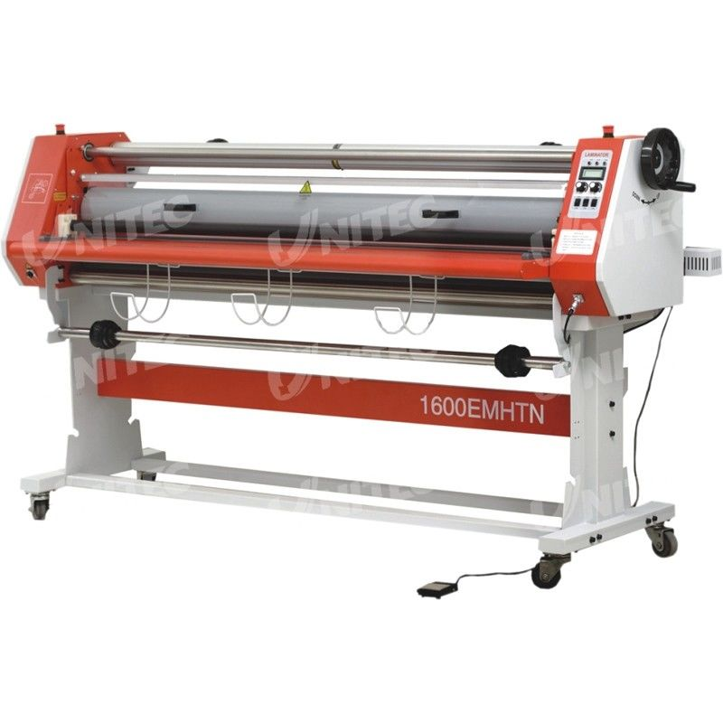 Glue - Proof Paper Roll Lamination Machine , Electric Cold Roll Laminating Machine LD-1600EMHTN